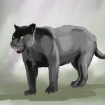 Black Panther Digita Painting 1