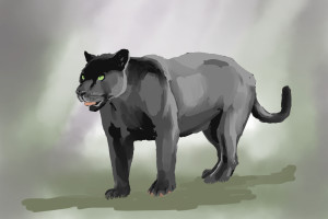 Black Panther Digital Painting 1