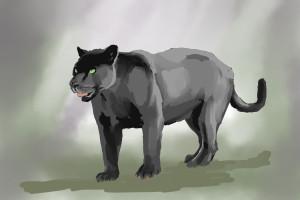Black Panther Digita Painting 1