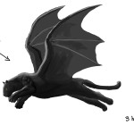 Winged Panther Digital Painting 1C