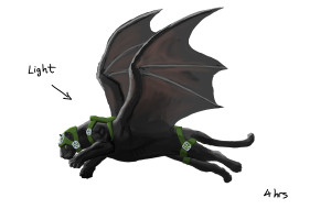 Winged Panther Digital Painting 1D