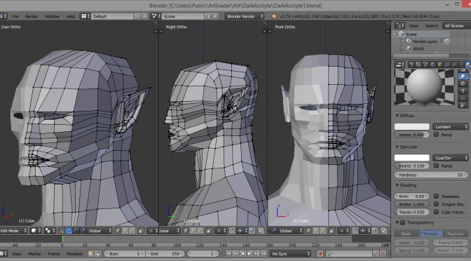 Human Head Modelling In Blender