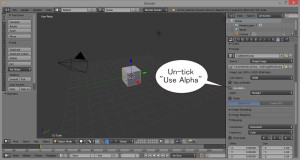 Untick Use Alpha