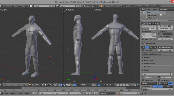 Box Modelling A Human Figure In Blender Experiment 1