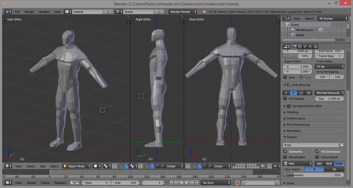 Blender Character Modeling 8 Of 10 : Box modelling a human figure in blender experiment