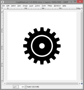 Drawing a cog wheel