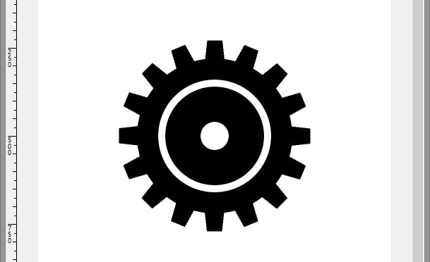 Making A Cog Wheel In Gimp