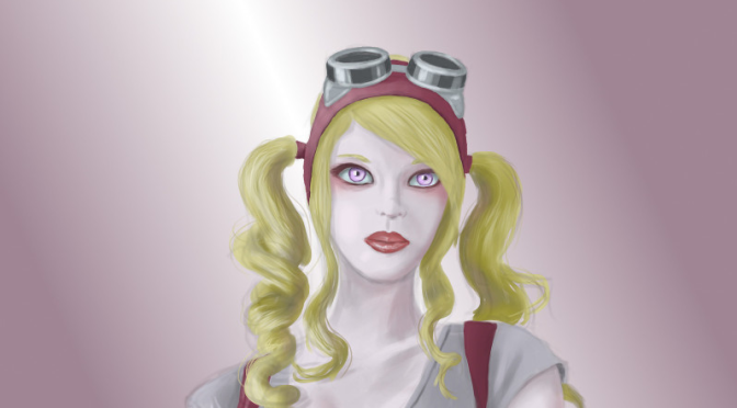 Steampunk Girl Digital Painting