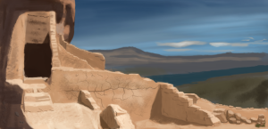 Sandstone Ruins Digital Painting