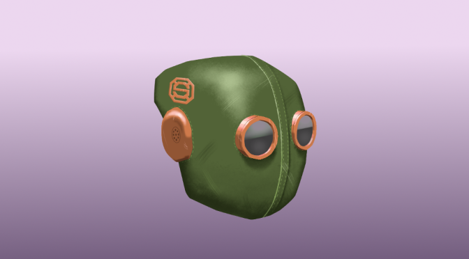 Steampunk Helmet Digital Painting