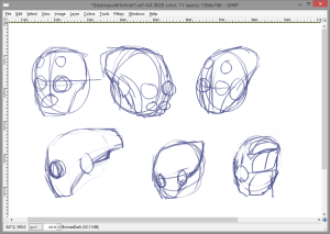 Steampunk Helmet Idea Sketches