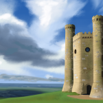 Stone Building Digital Painting
