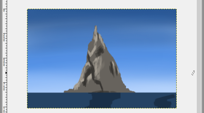Basalt Island Digital Painting Study Part 1