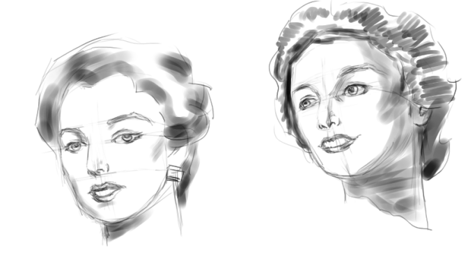Female Face Sketching Part 2