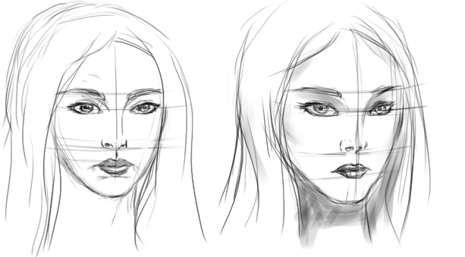 Female Face Sketching Part 3