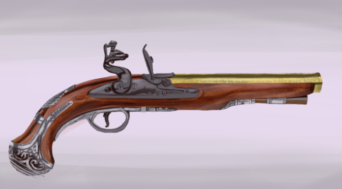 Flintlock Pistol Digital Painting Part 2