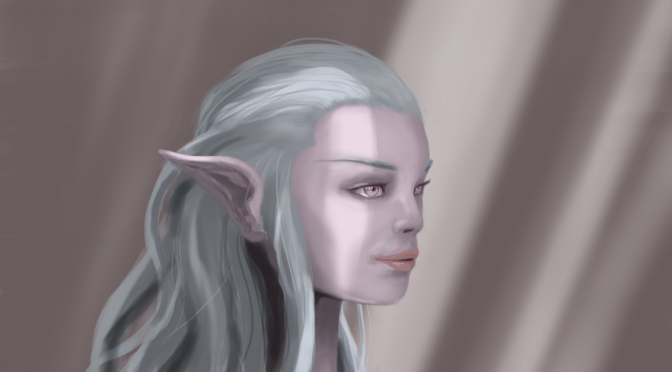 Painting Practice: Elf Maiden Face With Light Rays