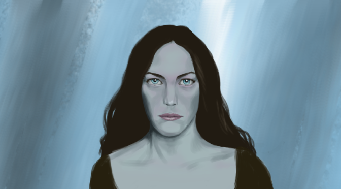 Female Face Digital Painting: Arwen
