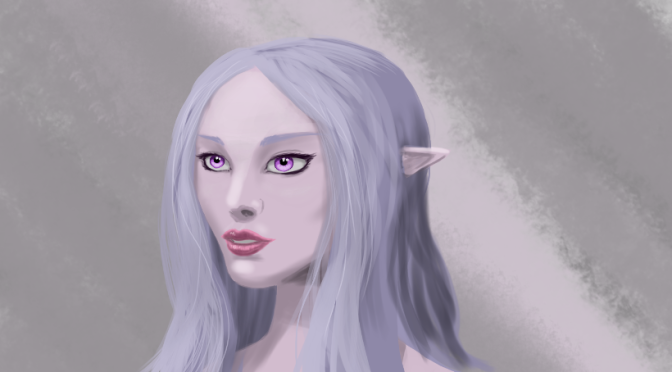 Female Face Digital Painting: Yanadia