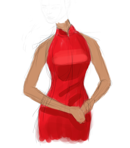 OrientalDressSketch1
