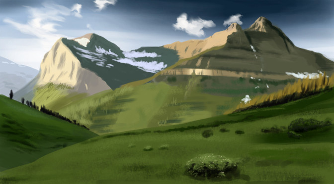 Mountain Landscape Digital Painting Study
