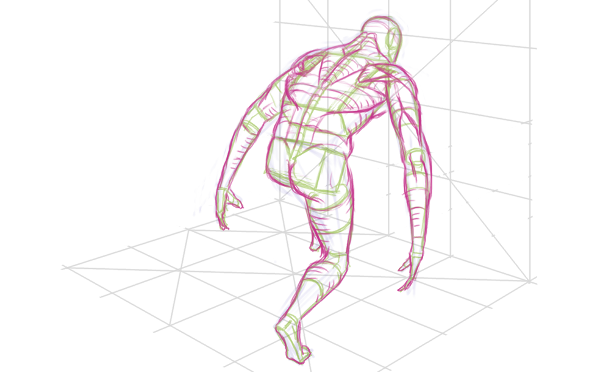Figure Drawing With A Perspective Grid 1