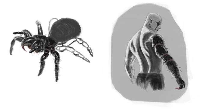 Spider Mutant Cultist Concept Studies
