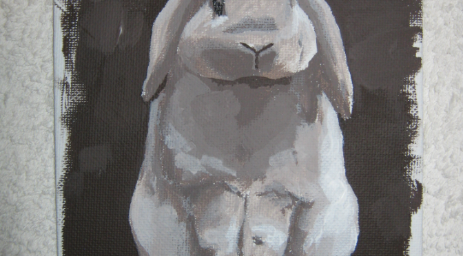 Acrylic Painting 3: Rabbit Sitting Up