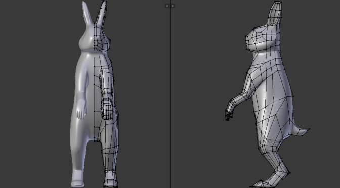 Box Modelling An Anthropomorphic Rabbit In Blender